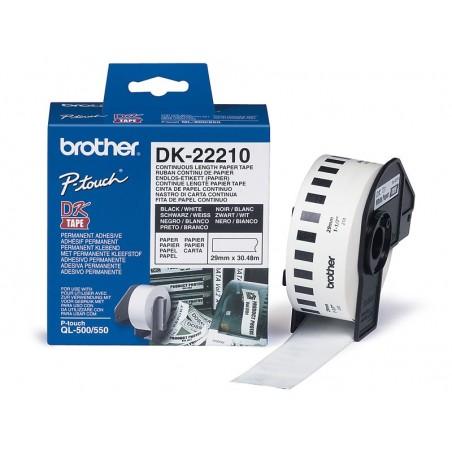 Etiquetas Brother DK-22210