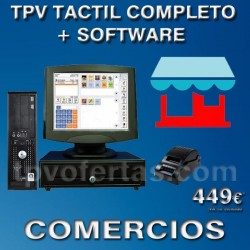 Pack TPV ECO1 Táctil+SOFTWARE COMERCIOS