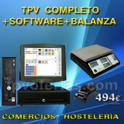 PACK TPV COMERCIO CON BALANZA+SOFTWARE