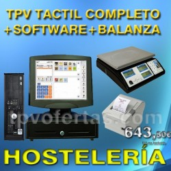 PACK TPV TACTIL COMERCIO CON BALANZA+SOFTWARE