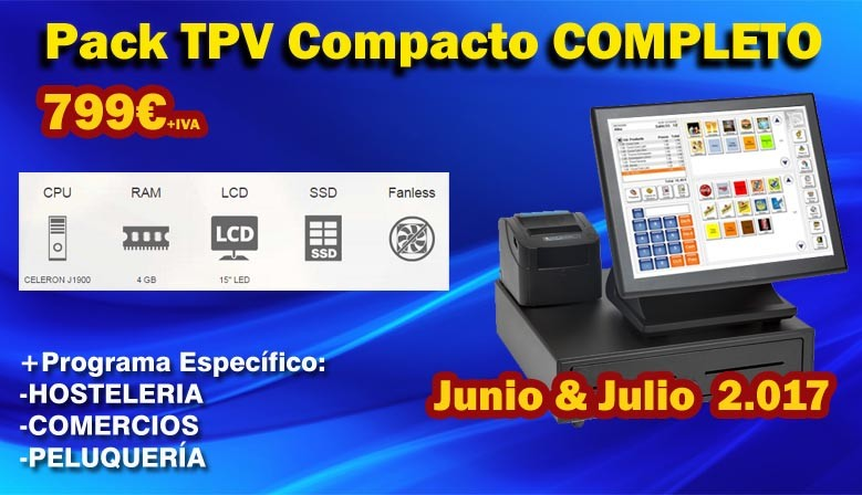 Pack TPV COMPACTO COMPLETO TACTIL